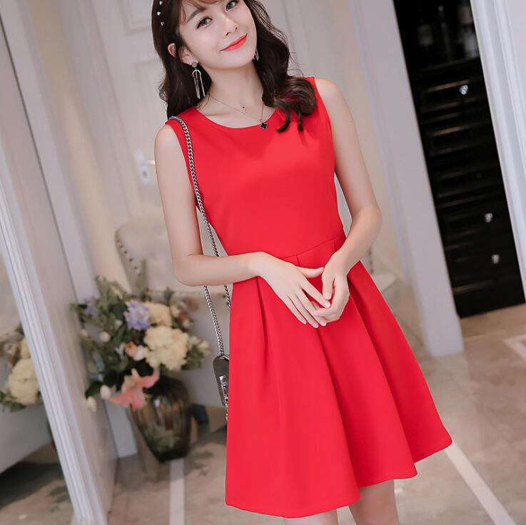 Slim and Pure Colored Spring and Summer Dress