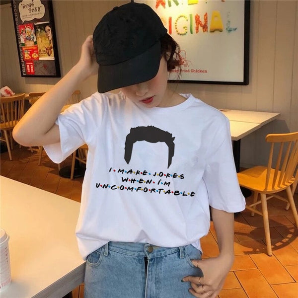 friends tv show t shirt Clothing 2019 korean tshirt 90s women female top tee shirts Graphic t-shirt Girl kawaii summer Korean
