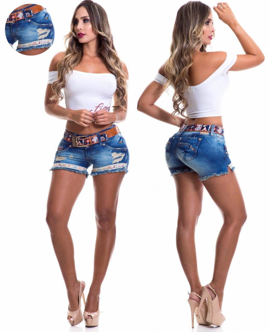 Woman's Denim Ripped Shorts