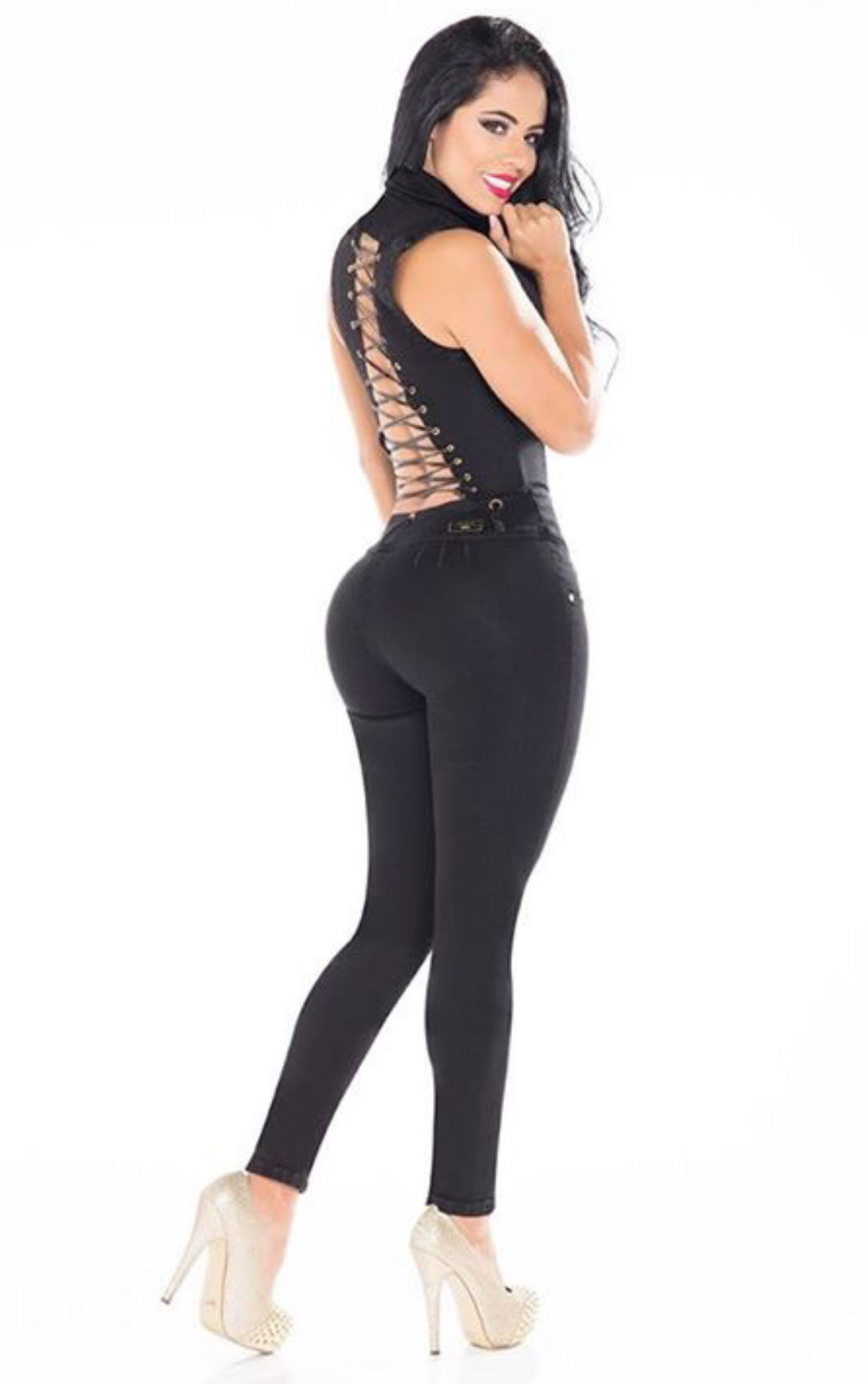 Black Jumpsuit - Sexy Open Back