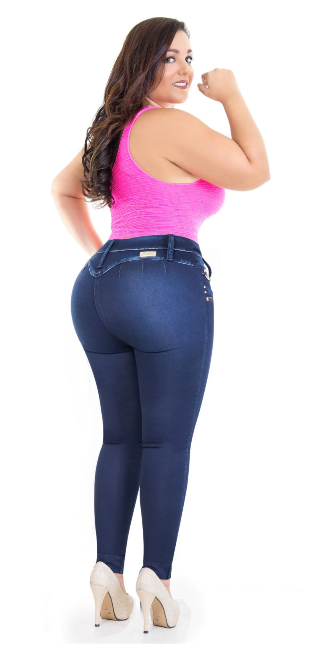 Curvy Jeans- Dark Blue