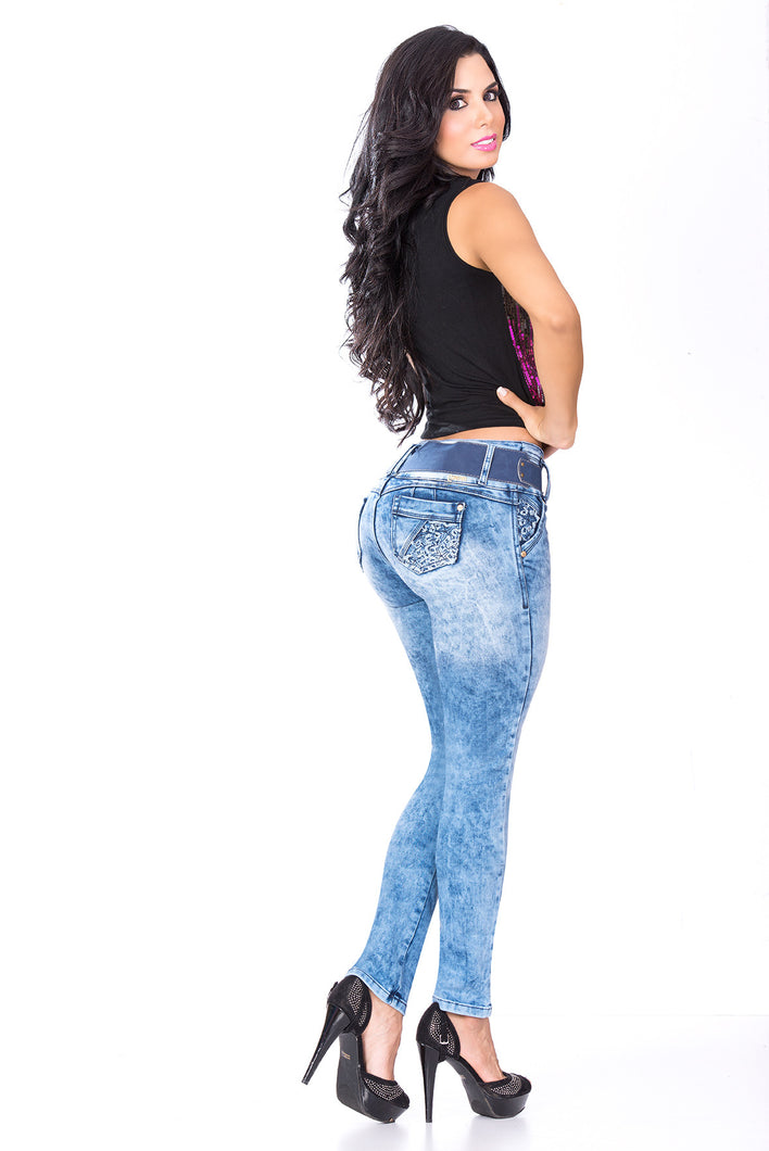 Light Blue Skinny Butt Lift Jeans