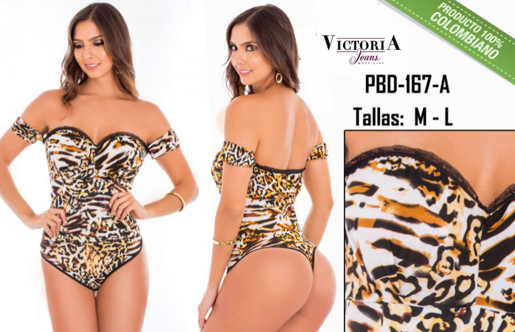 Animal Print Bodysuit shaper