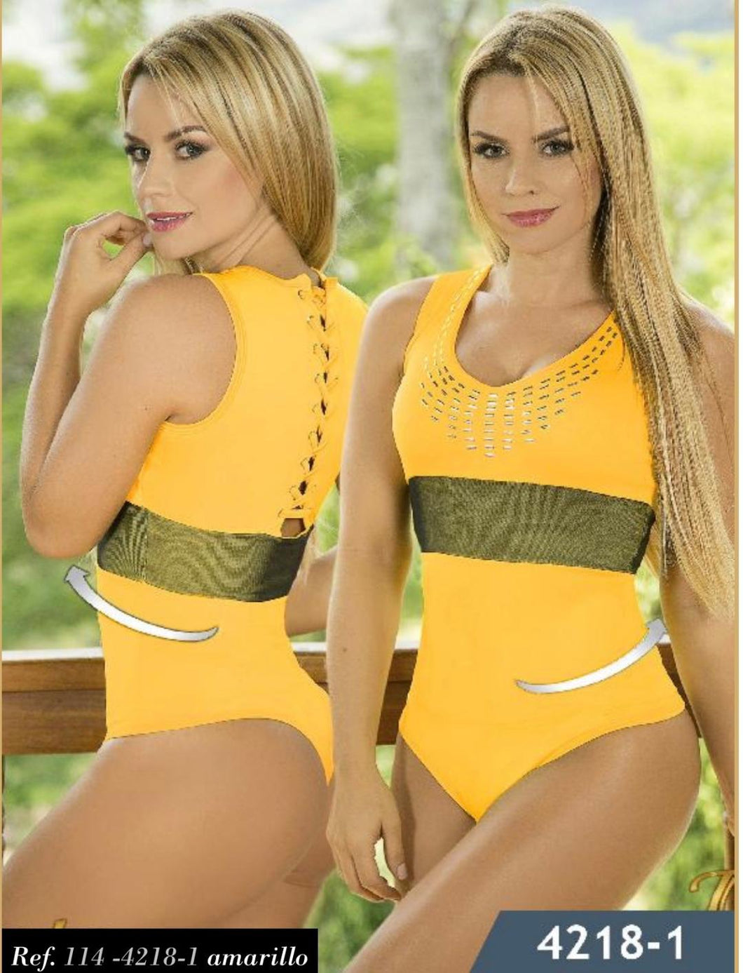 Yellow bodysuit shaper