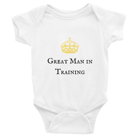 """Great Man in Training"" Infant Bodysuit"
