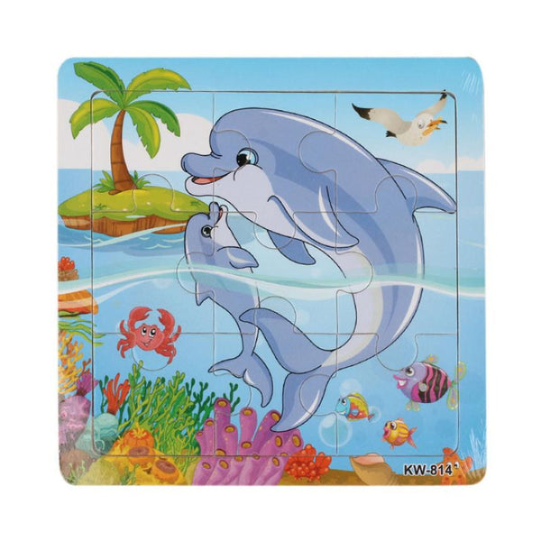 Dolphin Wooden Jigsaw Toys For children Educational Puzzles Brain Teaser