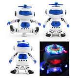 Electric Dancing Robot Smart Space Walking Children Kids Toy.