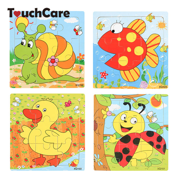 Cute Animal Wooden Puzzle Intelligence Baby Jigsaw Board Toys