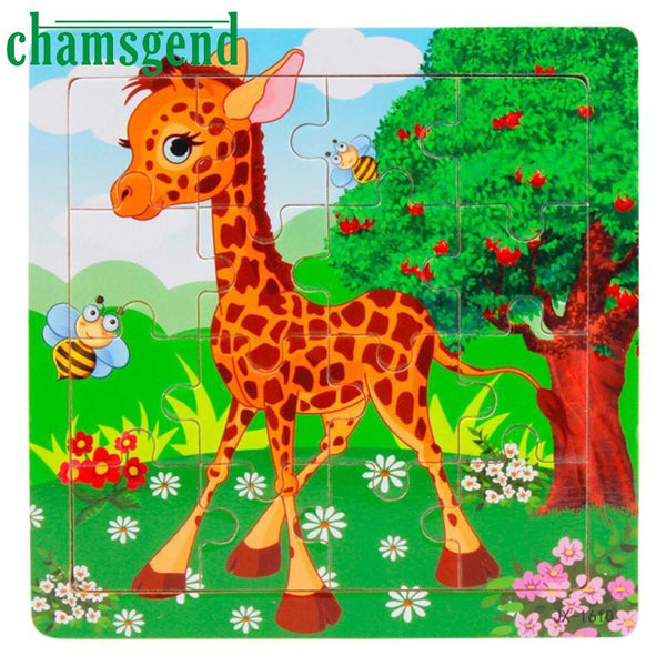 Animals  Wooden Puzzle Jigsaw Toys For Children Education & Learning Puzzles Toy