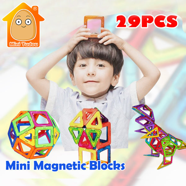 DIY - Little Einstein Mini Magnetic Set 3D 29 PCS Construction Building Toy