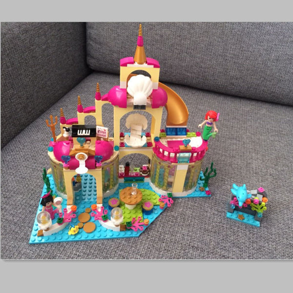 Princess Mermaid Undersea Palace Building Brick Toys