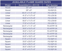 Buy American Fire Glass Linear Glass Flame Guard For Drop-In Burner Pan| FREE Shipping