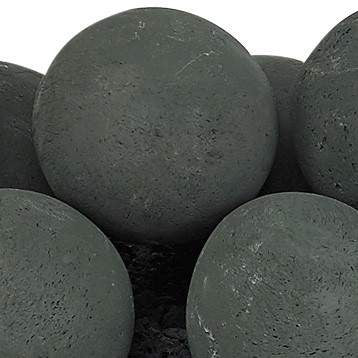 Buy American Fire Glass Matte Black Lite Stone Ball Set| FREE Shipping