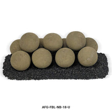 Buy American Fire Glass Nutmeg Brown Lite Stone Ball Set| FREE Shipping
