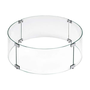 Buy American Fire Glass Round Glass Flame Guard For Drop-In Burner Pan| FREE Shipping