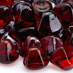 Buy American Fire Glass Ruby Red Zircon Fire Glass| FREE Shipping