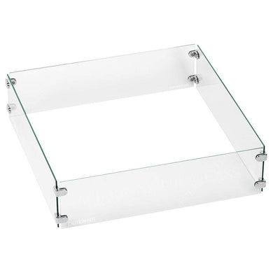 Buy American Fire Glass Square Glass Flame Guard For Drop-In Burner Pan| FREE Shipping