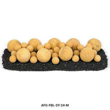 Buy American Fire Glass Sundance Yellow Lite Stone Ball Set| FREE Shipping