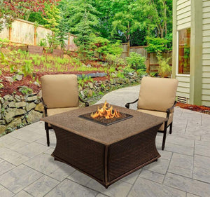 Buy Santa Cruz Fire Pit-Square/RectangleFree Gift--Fire Glass Included| FREE Shipping