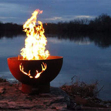 Buy Antlers Wood And Gas Burning Fire Pit| FREE Shipping