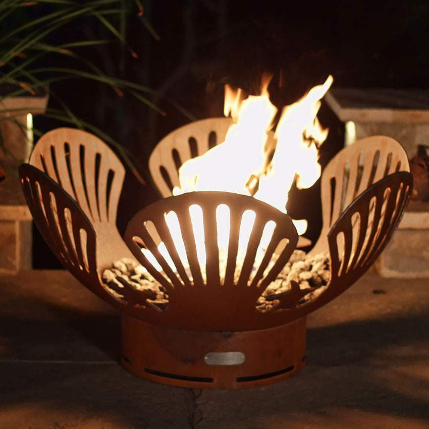 Barefoot Beach Wood & Gas Fire Pit - Home Fire Designs