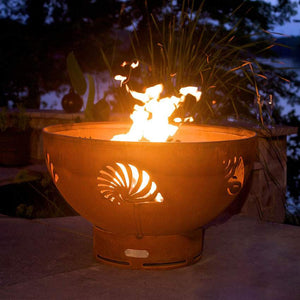 Beachcomber Wood & Gas Burning Fire Pit - Home Fire Designs