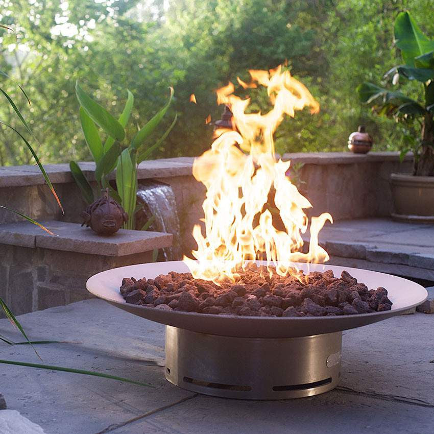 Bella Vita Wood & Gas Fire Pit - Home Fire Designs