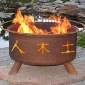 Buy Chinese Symbol Fire Pit Free Gifts! A $95 Value!!| FREE Shipping
