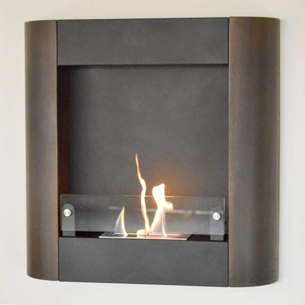 Buy Focolare Muro Noce Wall Mounted Ethanol Fireplace| FREE Shipping