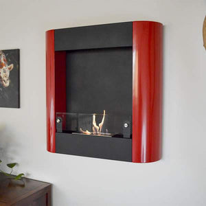 Buy Focolare Muro Rosso Wall Mounted Ethanol Fireplace| FREE Shipping