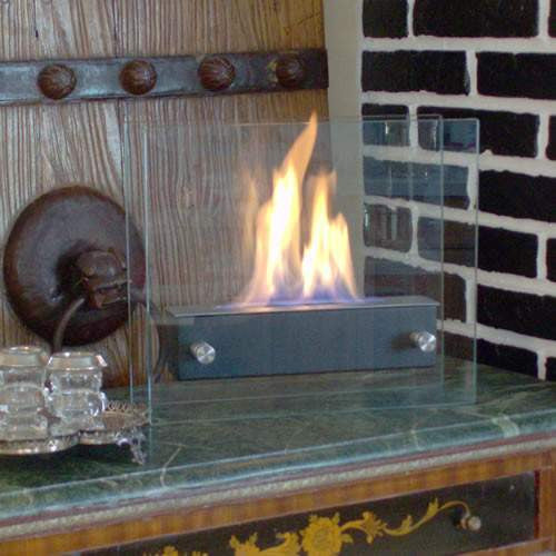 buy irradia noir black tabletop ethanol fireplace at home fire designs for only