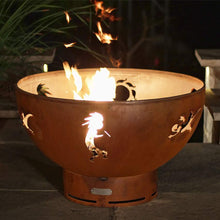 Kokopelli Wood & Gas Burning Fire Pit - Home Fire Designs