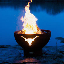 Long Horn Wood & Gas Burning Fire Pit - Home Fire Designs