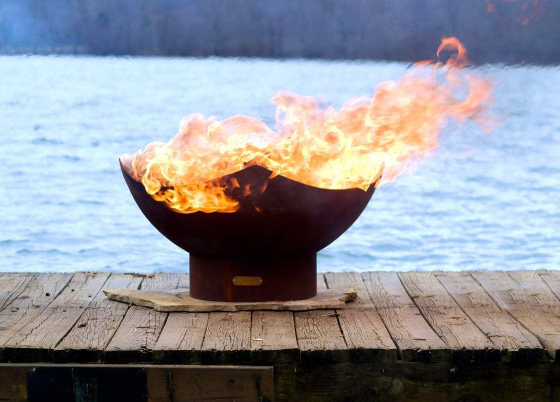 Buy Manta Ray Wood Amp Gas Burning Fire Pit At Home Fire