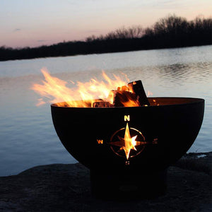 Navigator Wood & Gas Burning Fire Pit - Home Fire Designs