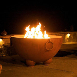 Nepal Wood & Gas Burning Fire Pit - Home Fire Designs