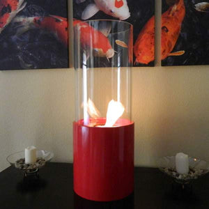 Buy Nu-Flame Doppio Rouge Tabletop Glass Cylinder Fireplace Red| FREE Shipping