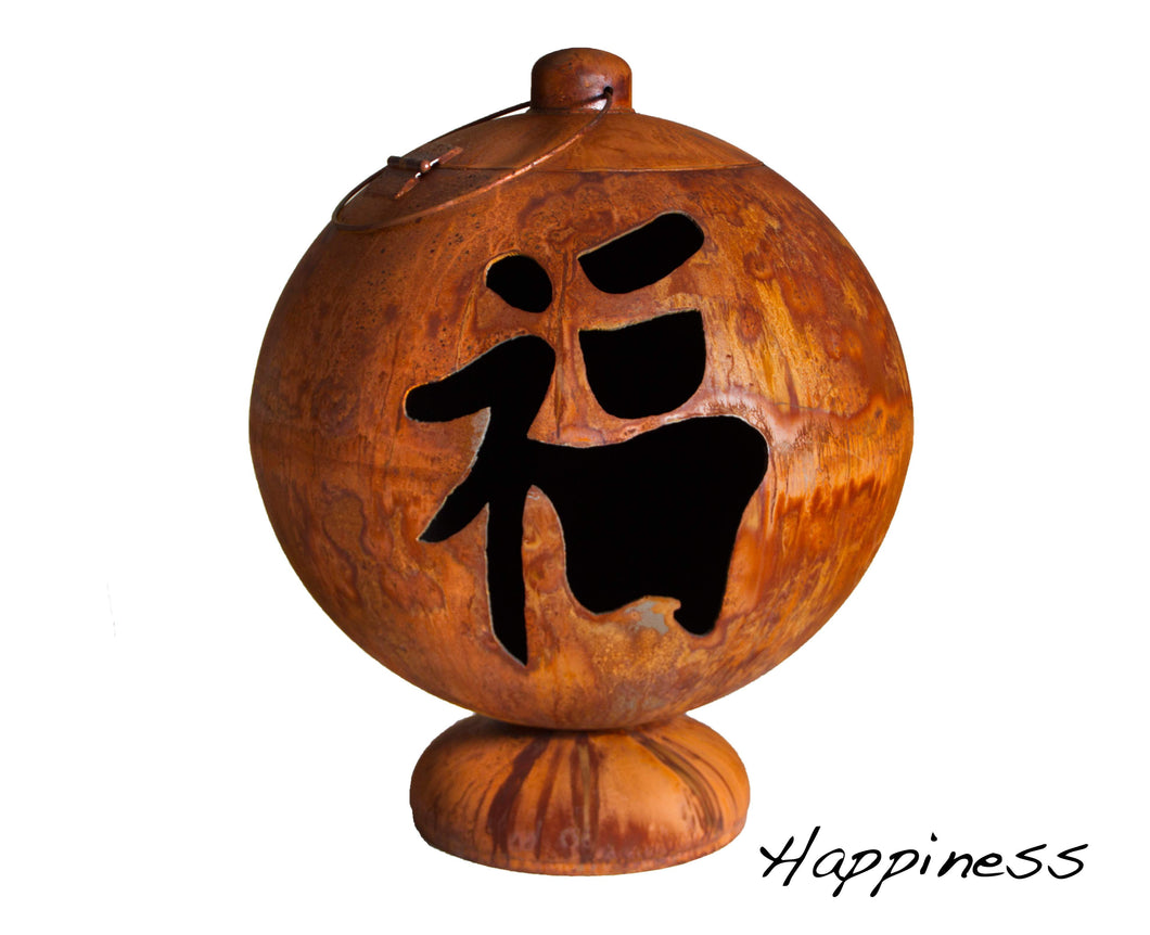 "Buy Ohio Flame 30"" Fire Globe ""Peace, Happiness, Tranquility""