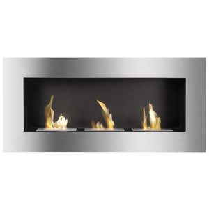 Buy Optimum Wall Mounted / Recessed Ventless Ethanol Fireplace| FREE Shipping