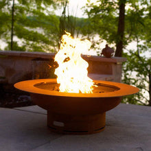 Saturn Wood & Gas Burning Fire Pit - Home Fire Designs