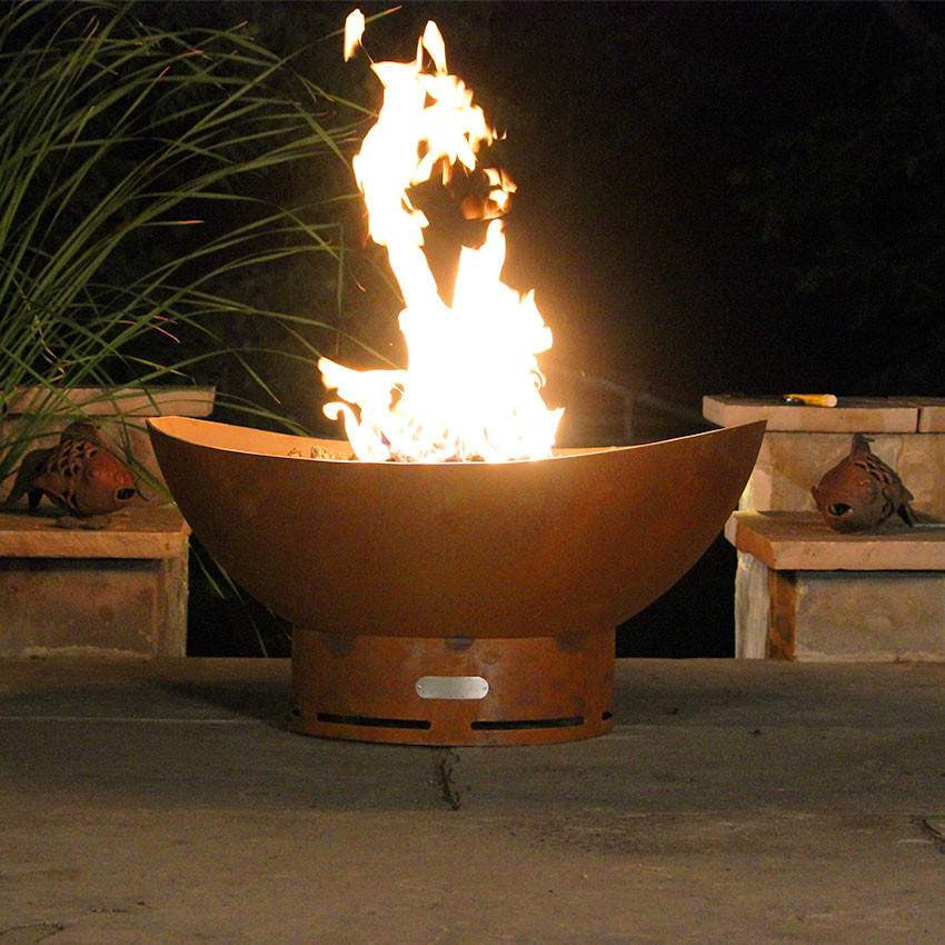 The Scallop Wood & Gas Burning Fire Pit - Home Fire Designs