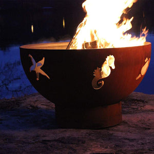 Sea Creatures Wood & Gas Burning Fire Pit - Home Fire Designs