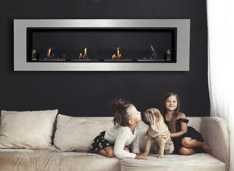 Ventana Wall Mounted Ethanol Fireplace Black Friday Special Take $50 off + 3 pack of Fuel - Home Fire Designs