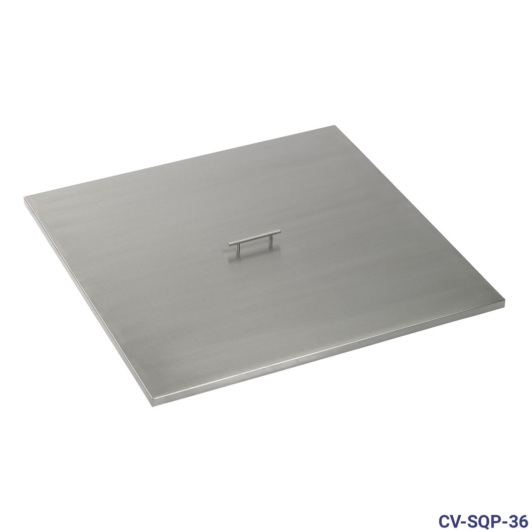Stainless Steel Cover for Square Drop-In Fire Pit Pan
