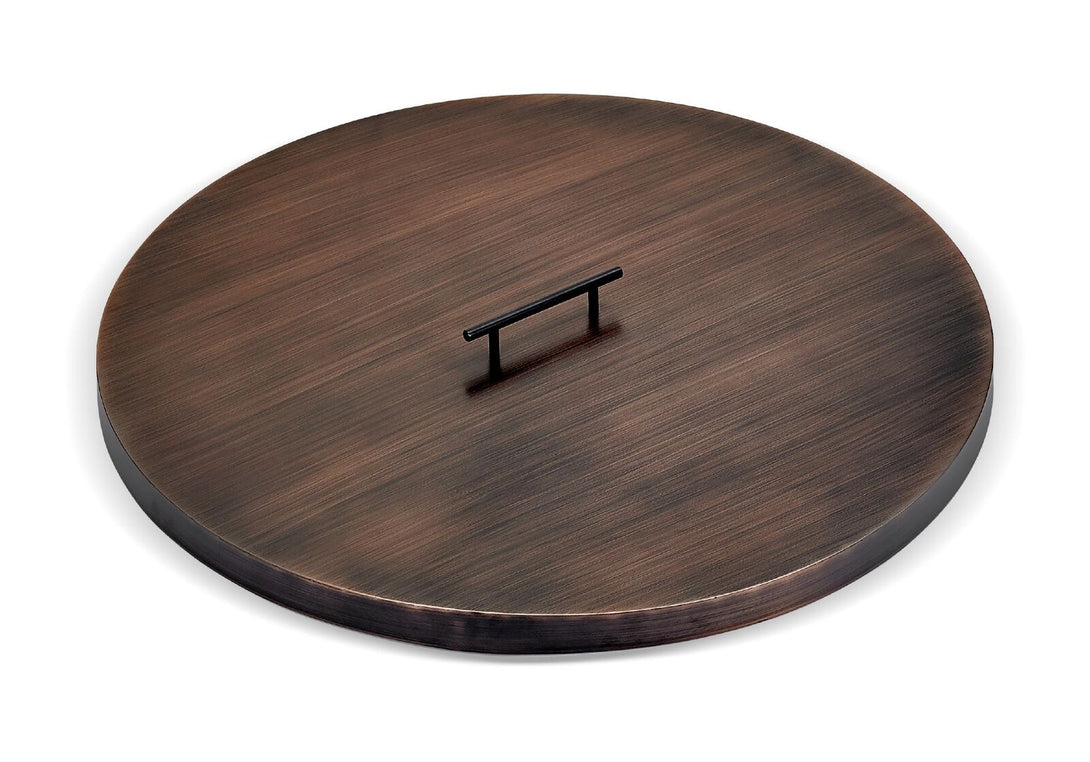 Buy Oil Rubbed Bronze Stainless Steel Cover for Round Drop-In Fire Pit Pan| FREE Shipping