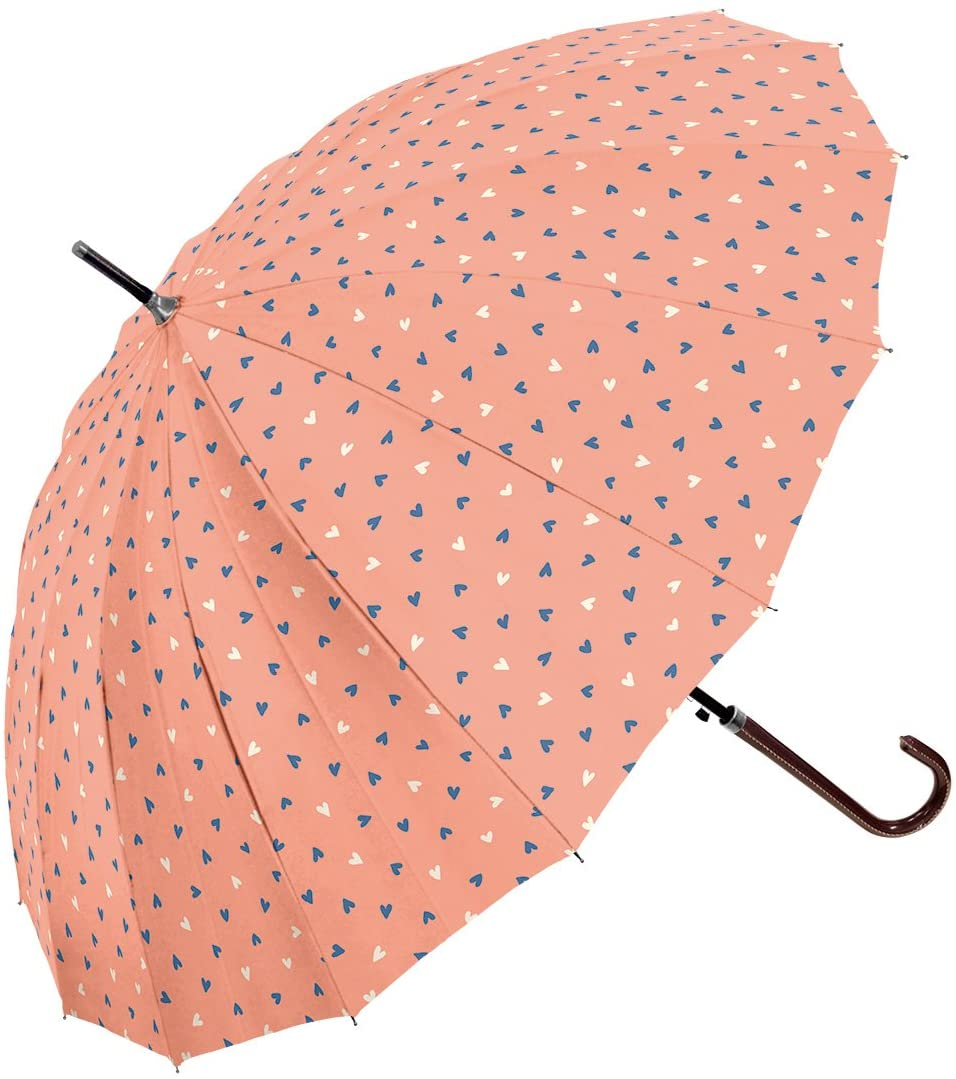 "Cute Pink Hearts Glass Fiber Umbrella 83cm 32.6""  OUTLET SALE EU"