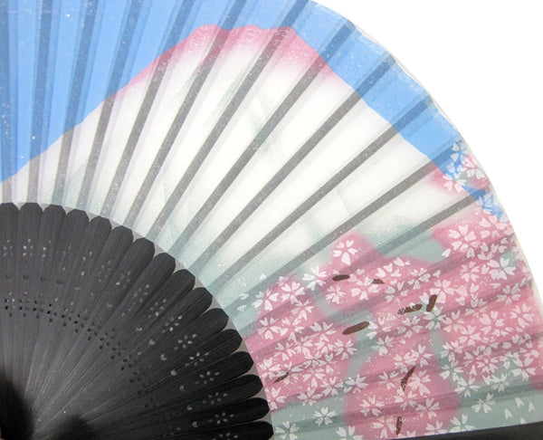 Silk Hand Fan Sakura & Mt. Fuji 504-704 OUTLET SALE EU