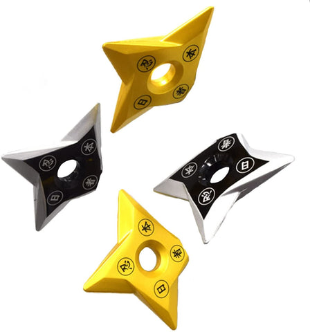 Fridge Magnets Shuriken (2 Black / 2 Gold) Set OUTLET SALE EU