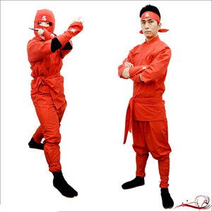 Perfect Ninja Suit Set ( for Adult)・Red Shinobu