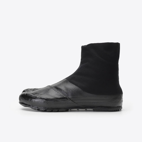 Marugo Jitsuyou Medium Top Tabi Shoes 5 Clips All Black (Work Shoes)